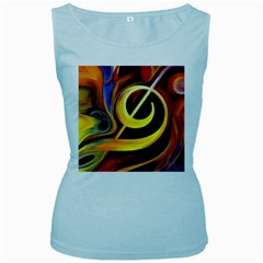 Art Oil Picture Music Nota Women s Baby Blue Tank Top