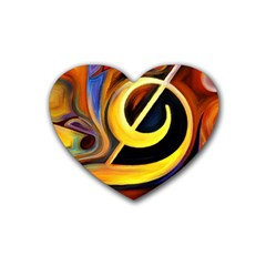 Art Oil Picture Music Nota Heart Coaster (4 pack)