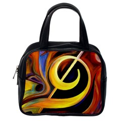 Art Oil Picture Music Nota Classic Handbags (One Side)