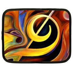 Art Oil Picture Music Nota Netbook Case (XL)