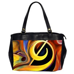 Art Oil Picture Music Nota Office Handbags (2 Sides)