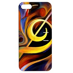 Art Oil Picture Music Nota Apple iPhone 5 Hardshell Case with Stand