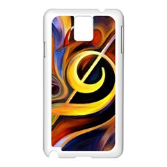Art Oil Picture Music Nota Samsung Galaxy Note 3 N9005 Case (White)