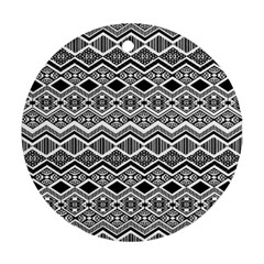 Aztec Design Pattern Round Ornament (Two Sides)