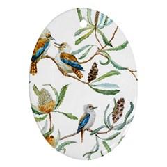 Australian Kookaburra Bird Pattern Ornament (Oval)