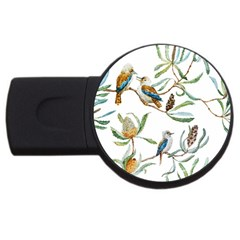 Australian Kookaburra Bird Pattern USB Flash Drive Round (1 GB)
