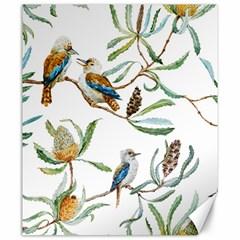 Australian Kookaburra Bird Pattern Canvas 20  x 24