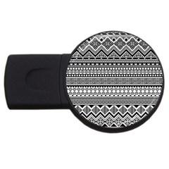 Aztec Pattern Design USB Flash Drive Round (4 GB)