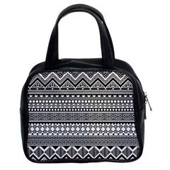 Aztec Pattern Design Classic Handbags (2 Sides)