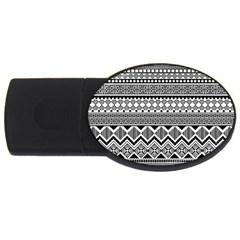 Aztec Pattern Design USB Flash Drive Oval (2 GB)