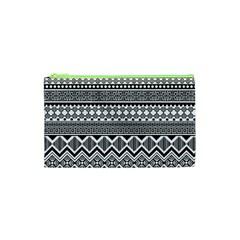 Aztec Pattern Design Cosmetic Bag (XS)