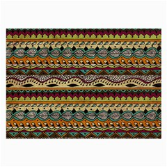 Aztec Pattern Ethnic Large Glasses Cloth