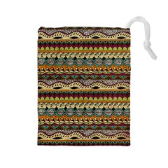 Aztec Pattern Ethnic Drawstring Pouches (Large)