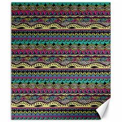 Aztec Pattern Cool Colors Canvas 20  x 24