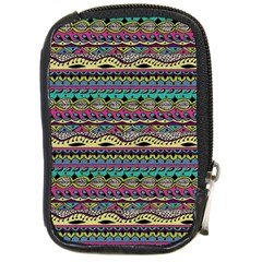 Aztec Pattern Cool Colors Compact Camera Cases
