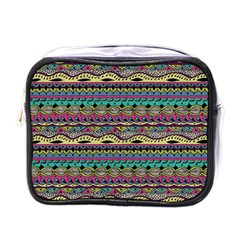Aztec Pattern Cool Colors Mini Toiletries Bags