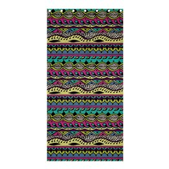Aztec Pattern Cool Colors Shower Curtain 36  x 72  (Stall)