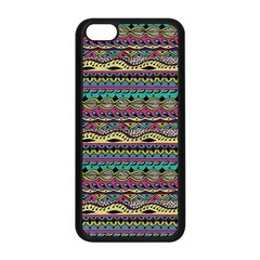 Aztec Pattern Cool Colors Apple iPhone 5C Seamless Case (Black)