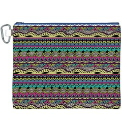 Aztec Pattern Cool Colors Canvas Cosmetic Bag (XXXL)