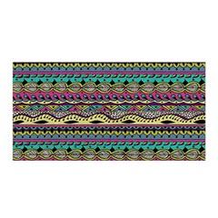 Aztec Pattern Cool Colors Satin Wrap