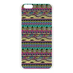 Aztec Pattern Cool Colors Apple Seamless iPhone 6 Plus/6S Plus Case (Transparent)