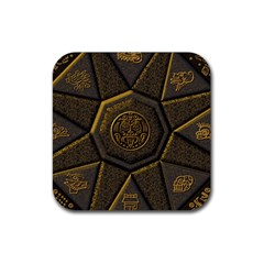 Aztec Runes Rubber Coaster (Square)
