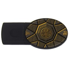 Aztec Runes USB Flash Drive Oval (1 GB)