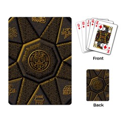 Aztec Runes Playing Card