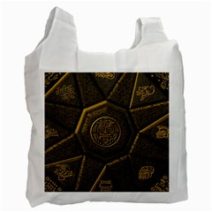 Aztec Runes Recycle Bag (One Side)