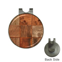 Barnwood Unfinished Hat Clips with Golf Markers