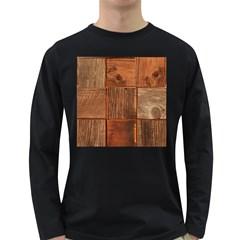 Barnwood Unfinished Long Sleeve Dark T-Shirts