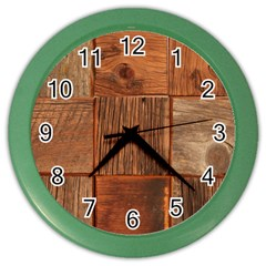 Barnwood Unfinished Color Wall Clocks
