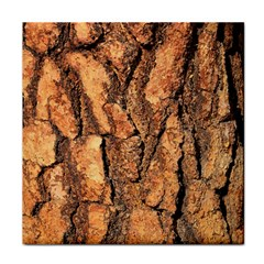 Bark Texture Wood Large Rough Red Wood Outside California Tile Coasters