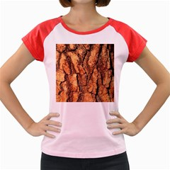 Bark Texture Wood Large Rough Red Wood Outside California Women s Cap Sleeve T-Shirt