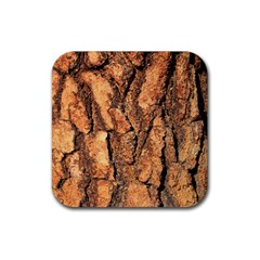 Bark Texture Wood Large Rough Red Wood Outside California Rubber Coaster (Square)