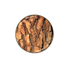 Bark Texture Wood Large Rough Red Wood Outside California Hat Clip Ball Marker (4 pack)