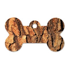 Bark Texture Wood Large Rough Red Wood Outside California Dog Tag Bone (One Side)