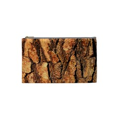Bark Texture Wood Large Rough Red Wood Outside California Cosmetic Bag (Small)