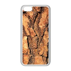 Bark Texture Wood Large Rough Red Wood Outside California Apple iPhone 5C Seamless Case (White)