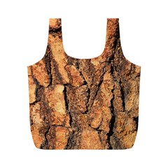 Bark Texture Wood Large Rough Red Wood Outside California Full Print Recycle Bags (M)