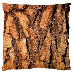 Bark Texture Wood Large Rough Red Wood Outside California Large Flano Cushion Case (Two Sides)