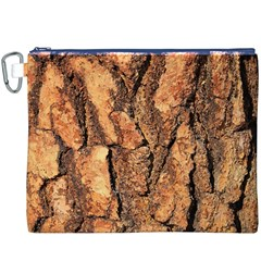 Bark Texture Wood Large Rough Red Wood Outside California Canvas Cosmetic Bag (XXXL)