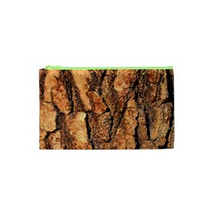 Bark Texture Wood Large Rough Red Wood Outside California Cosmetic Bag (XS)