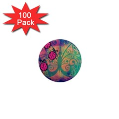 Background Colorful Bugs 1  Mini Magnets (100 pack)