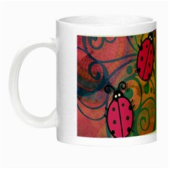 Background Colorful Bugs Night Luminous Mugs