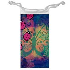 Background Colorful Bugs Jewelry Bag