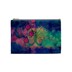 Background Colorful Bugs Cosmetic Bag (Medium)