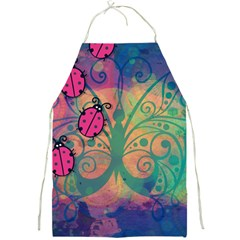 Background Colorful Bugs Full Print Aprons