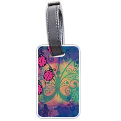 Background Colorful Bugs Luggage Tags (Two Sides)
