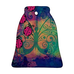 Background Colorful Bugs Ornament (Bell)